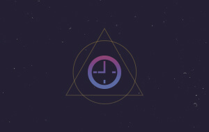 Animated clock icon